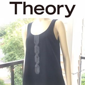 EUC Theory wool sequin suiting tank